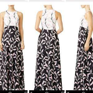 Cynthia Rowley Pastel Petals Gown Dress 0 4 6 8